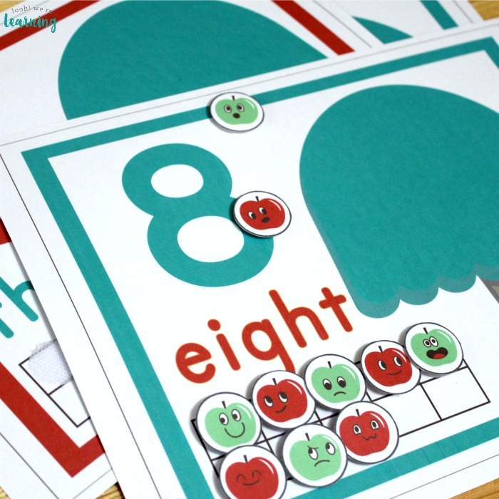 Printable Apple Tree Ten Frame Counting Mats