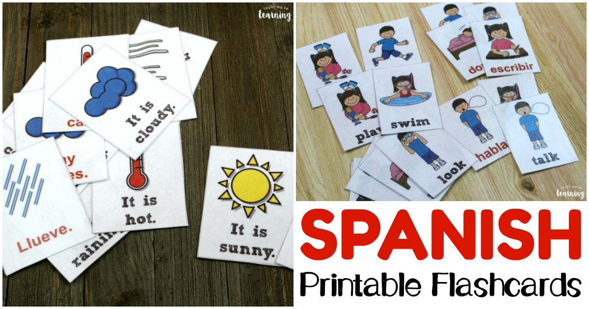Printable Spanish Flashcards for Spanish Vocabulary Skills