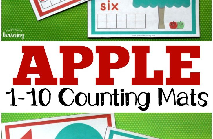 Printable Apple Tree 1-10 Counting Mats