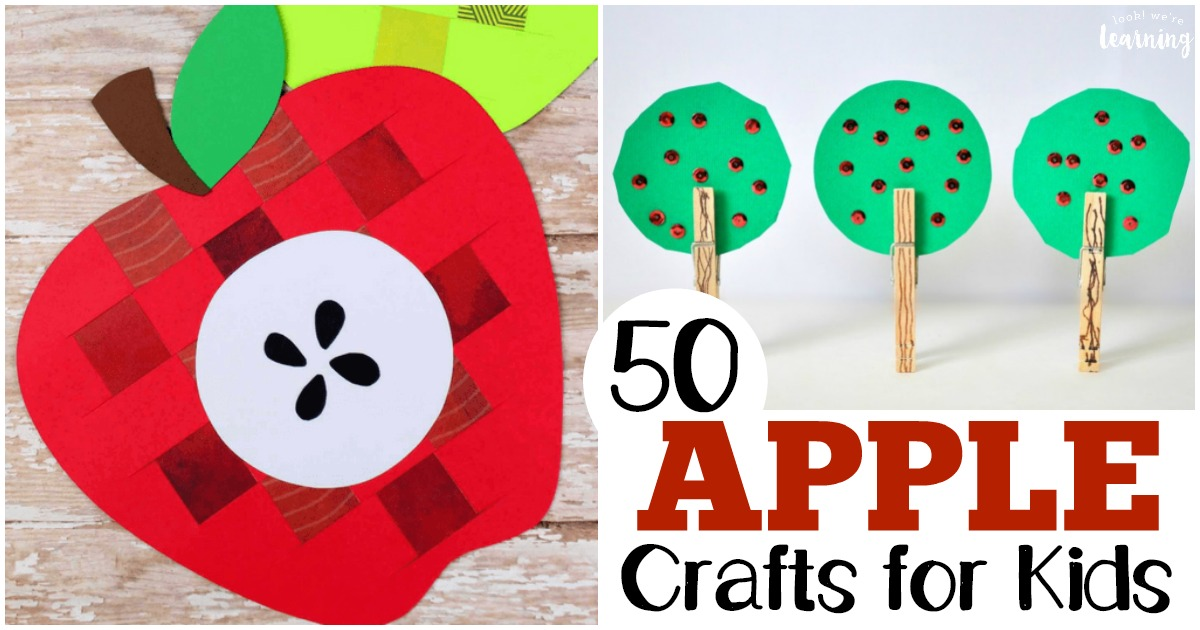 50 Apple Crafts for Kids to Make
