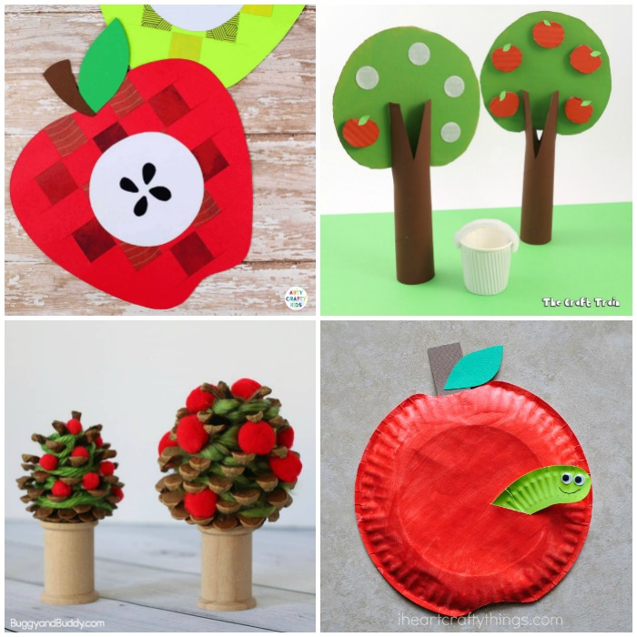 50 Apple Crafts for Kids
