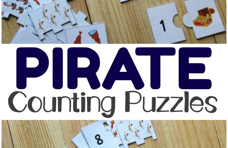 Pirate Printable Counting Puzzles for Kids