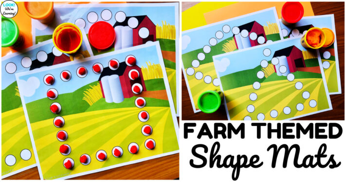 Fun Farm Themed Shape Mats for Early Learners