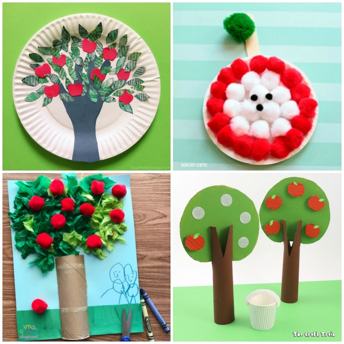Fun and Easy Apple Crafts for Kids to Make