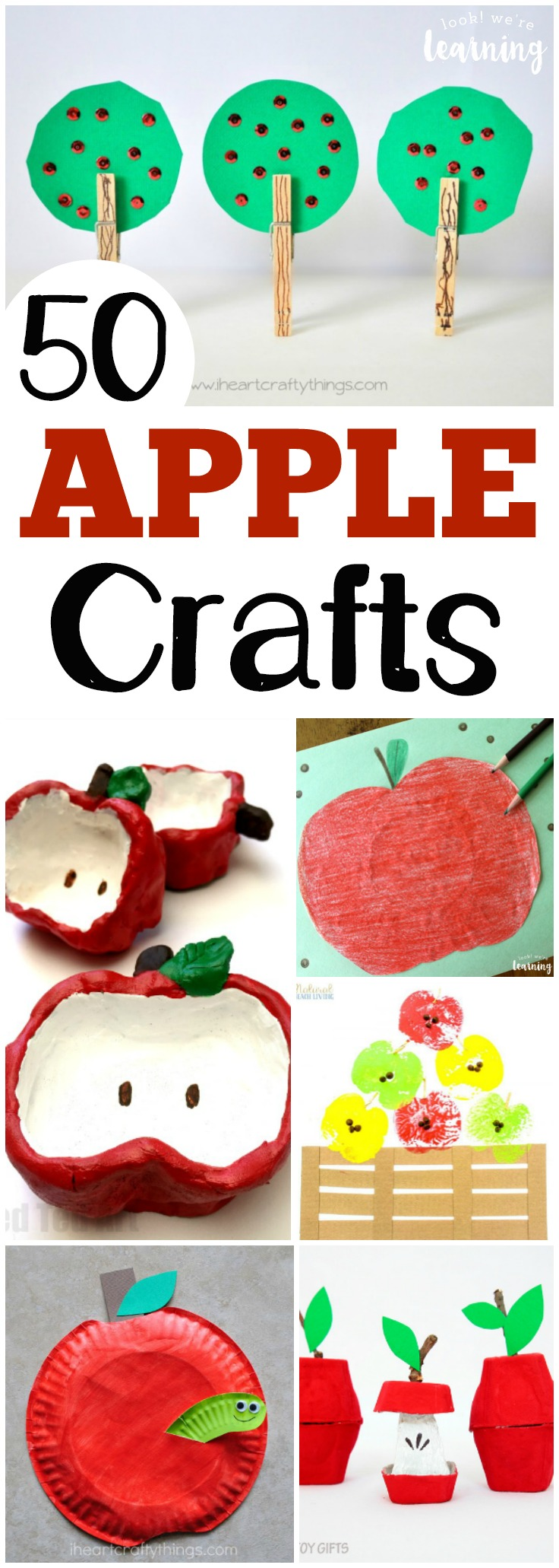Get into the fall spirit with these absolutely adorable apple crafts for kids to make!