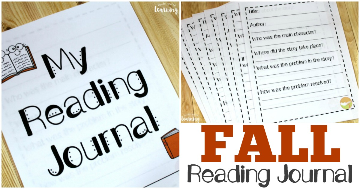 Get kids into reading and analyzing what they read with this printable fall reading journal!