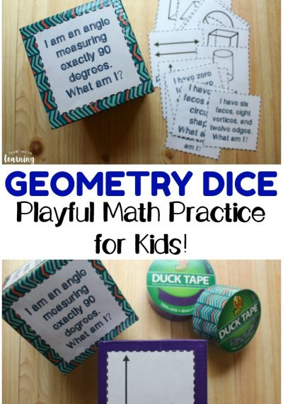 Make math practice into a play activity for students with this easy DIY Geometry Dice project! Perfect for building math fluency in upper elementary grades!