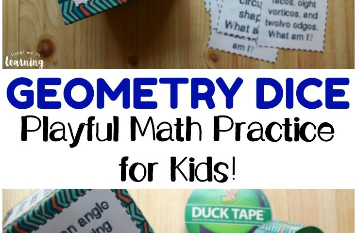 DIY Geometry Dice – A Fun Math Practice Tool for Kids!