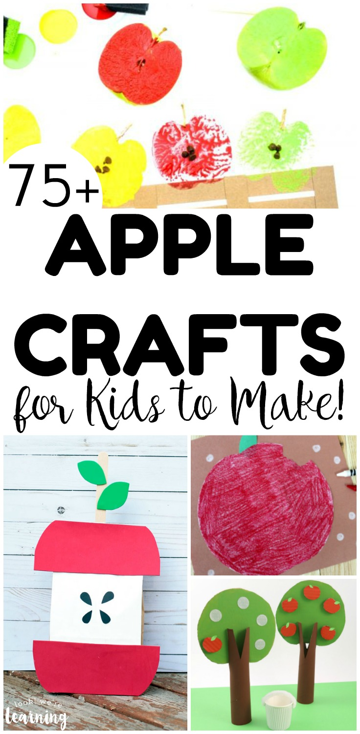 Make the most of fall with these fun apple crafts for kids! There are over 75 easy apple crafts to choose from!