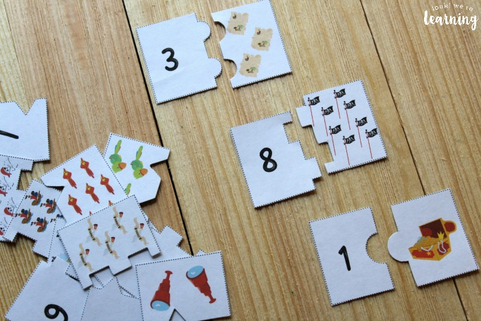 Pirate Themed Counting Puzzles for Kids