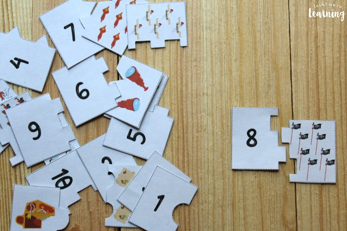 Printable 1-10 Counting Puzzles