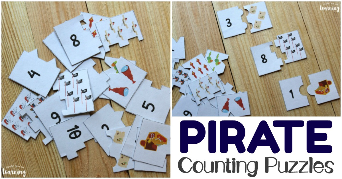 Printable Pirate Themed 1-10 Counting Puzzles