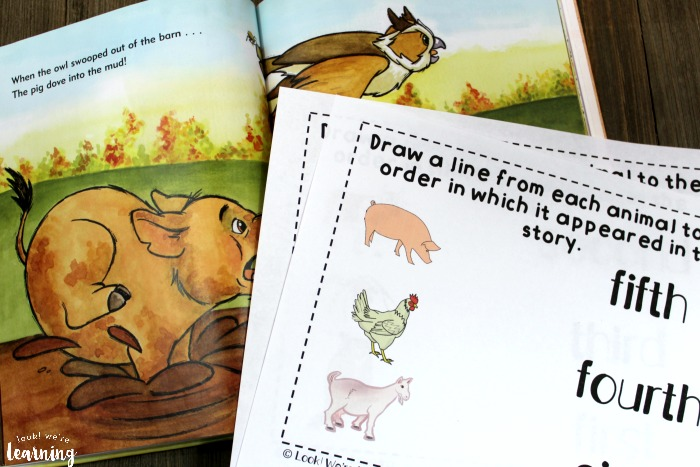 Printable When the Leaf Blew In Sequencing Activity