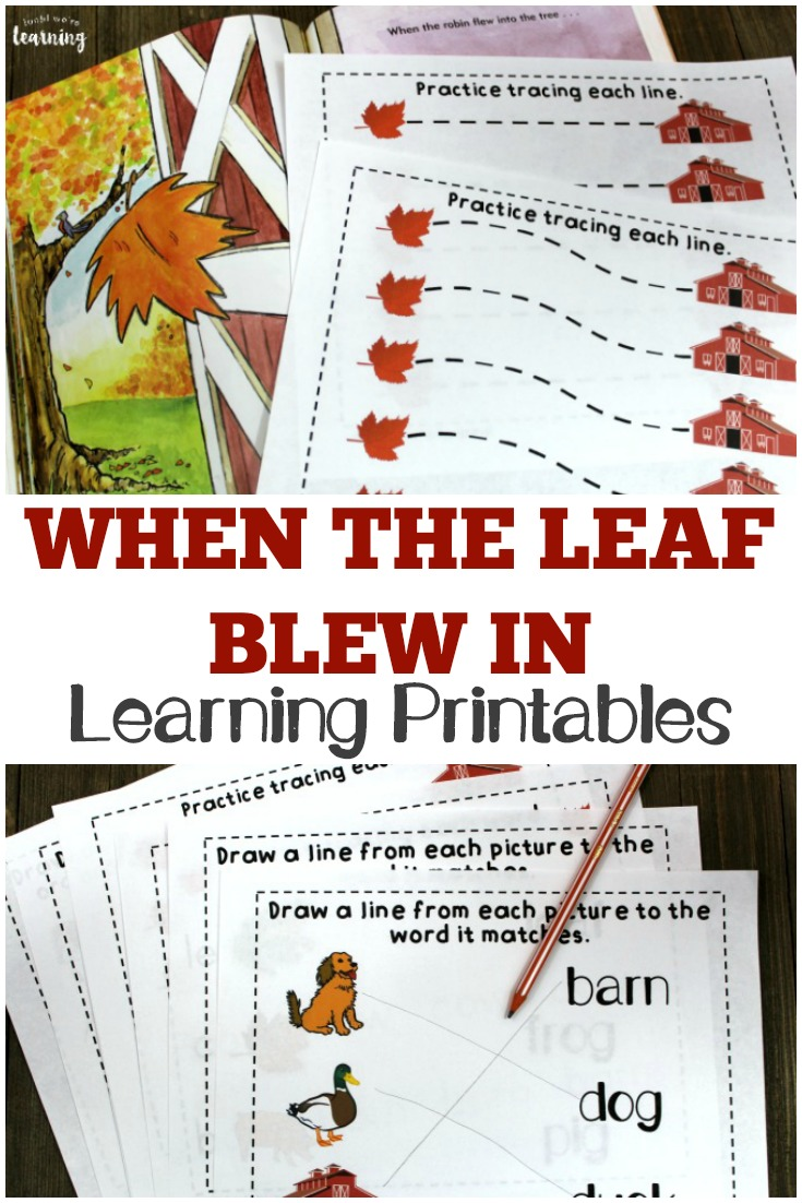 These When the Leaf Blew In printables are a fun way to extend this classic fall story with early learners!