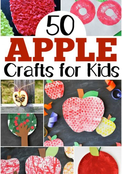 50 Adorable Apple Crafts for Kids