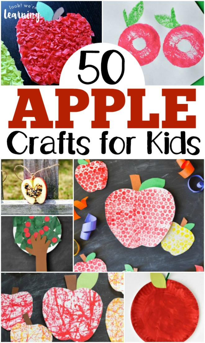 These adorable apple crafts for kids are perfect for welcoming fall!