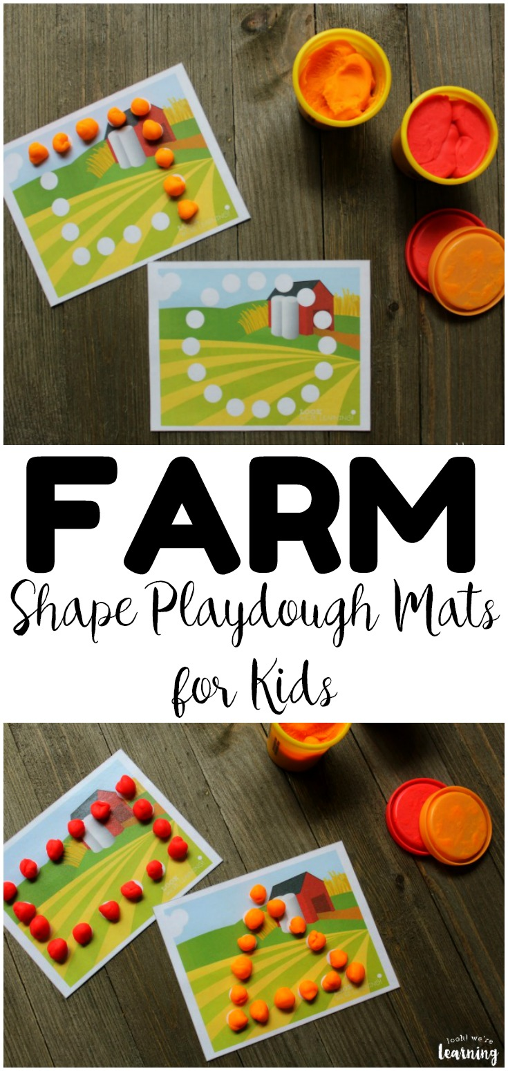 These printable farm shape playdough mats are perfect for building fine motor skills with a fun farm theme! Add them to a fall or spring lesson plan!