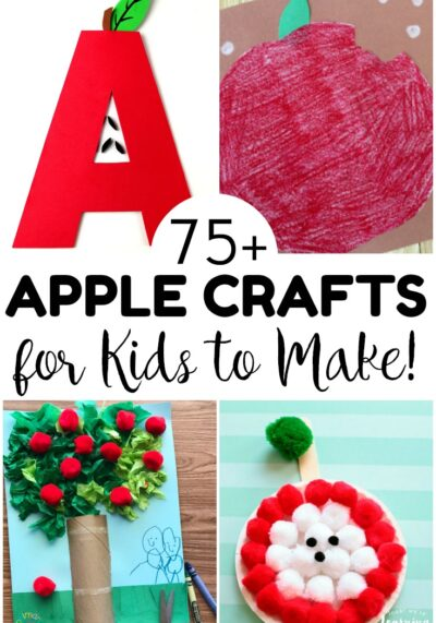 This list of fun and easy apple crafts for kids is perfect for fall art projects, fall crafts, and apple units for little ones!