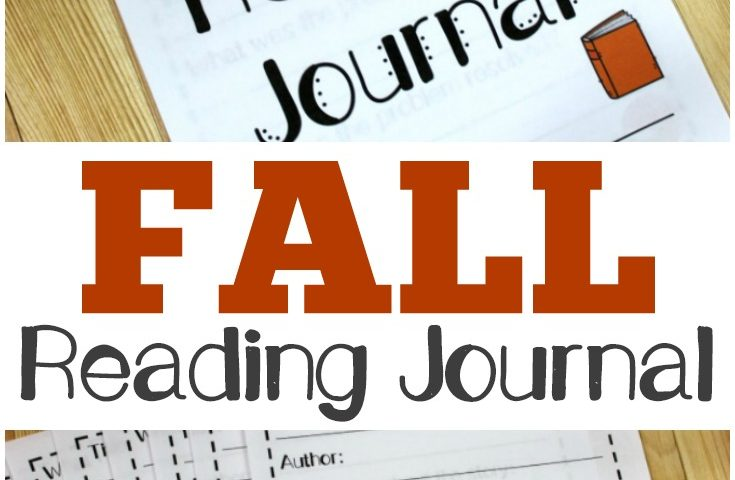 Printable Fall Reading Journal for Second Grade