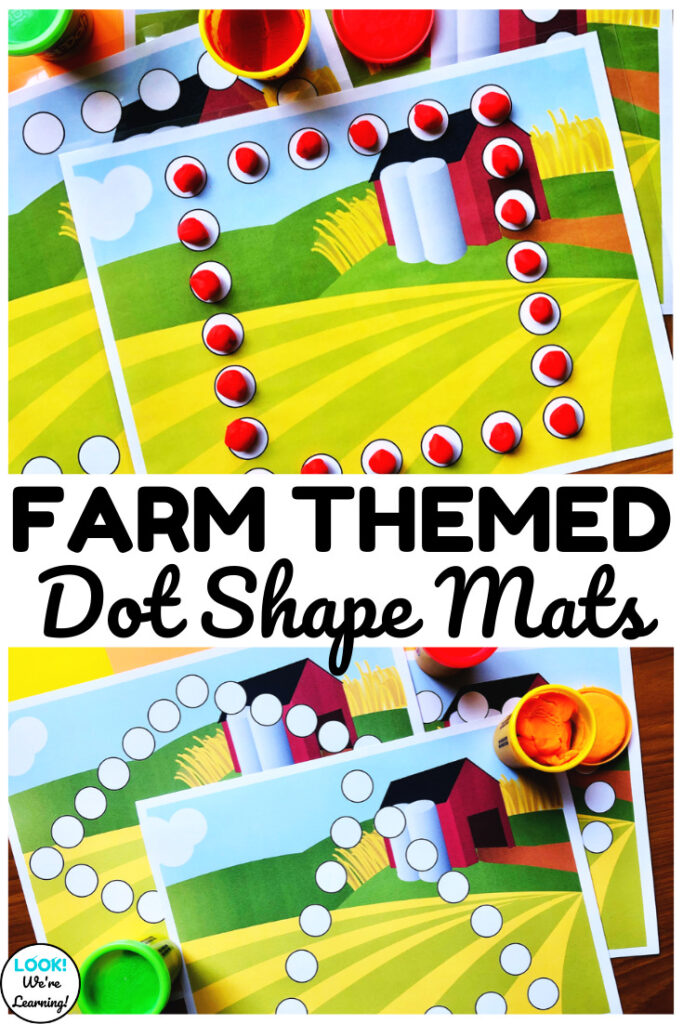 Use these fun and simple farm themed shape mats to help early learners practice forming eight different shapes!