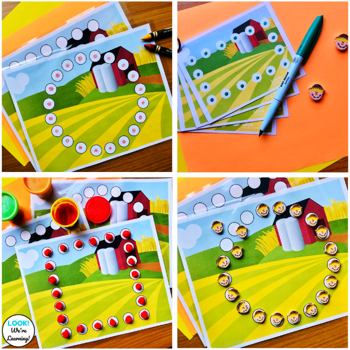 Using Farm Shape Mats with Students