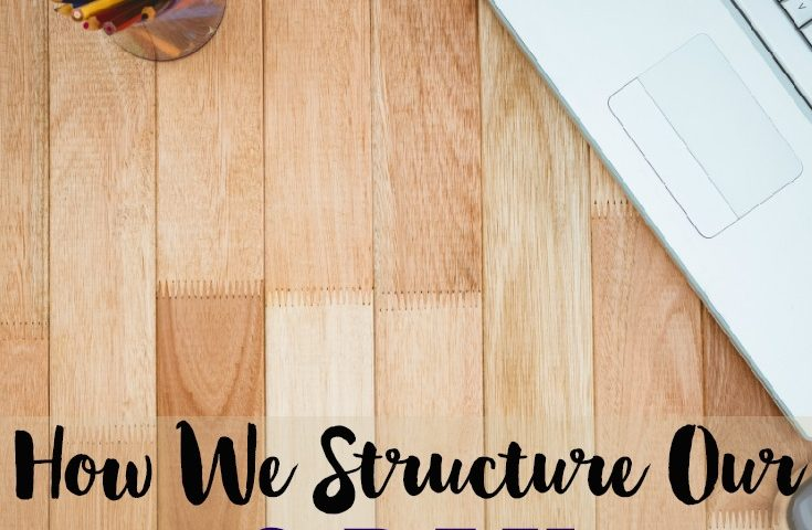 How We Structure Our Three Day Homeschool Week