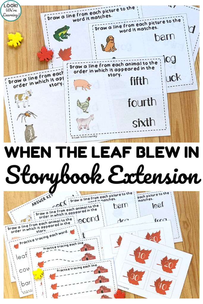 Share this When the Leaf Blew In Storybook Extension to help early learners understand this classic fall story!