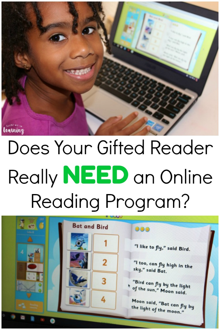 Does your gifted reader really need an online reading program? See how we're using Reading Eggs to boost our bookworm's reading skills!