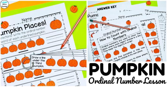 Fun Pumpkin Themed Kindergarten Ordinal Number Lesson