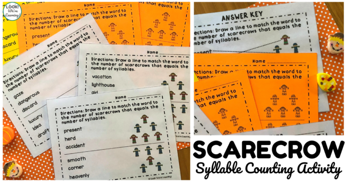 Fun Scarecrow Syllable Counting Lesson