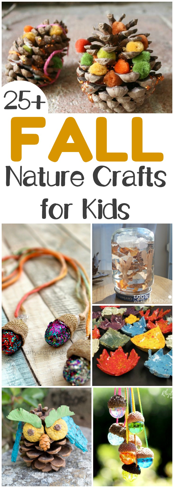 Get outside with the little ones this fall and gather up natural materials to make these lovely fall nature crafts!