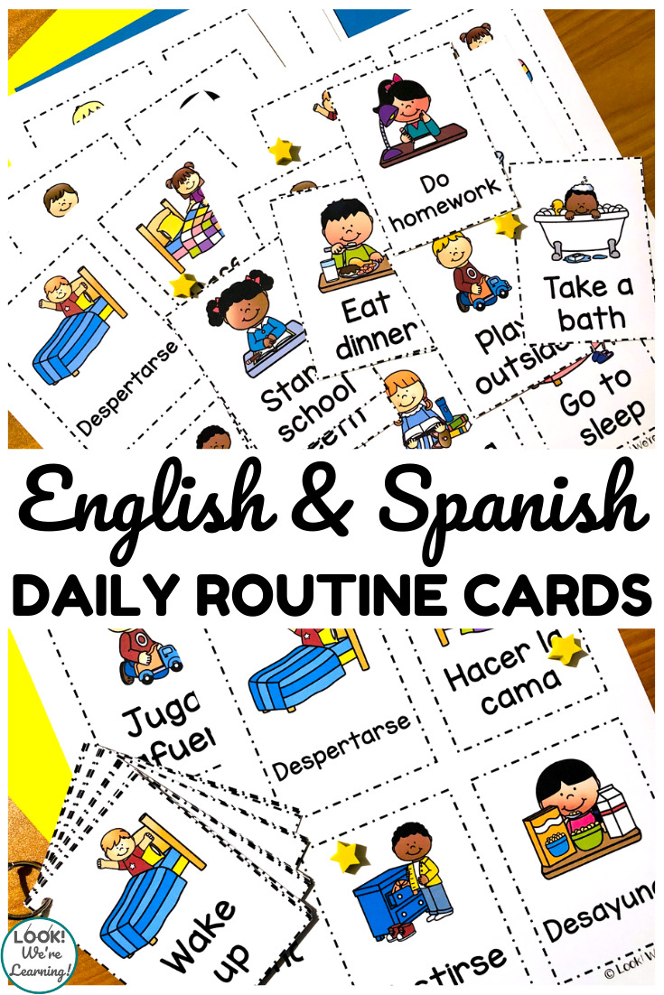 Free Daily Routine Cards For Kids Look We Re Learning