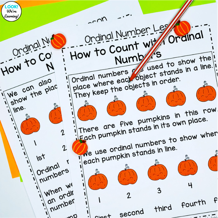 How to Count with Ordinal Numbers Lesson