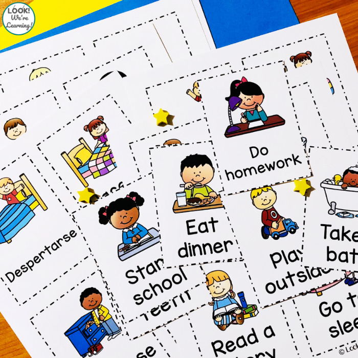 Printable Kids Daily Routine Cards
