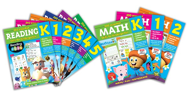 Reading and Math cover spreads