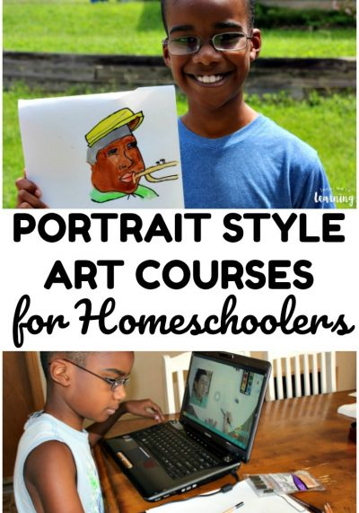 Portrait Style Homeschool Art Courses with Sparketh
