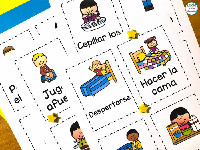 Spanish Daily Routine Printables for Kids