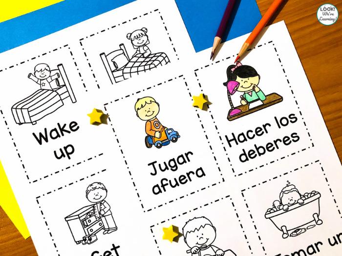 Spanish Daily Routine Printables