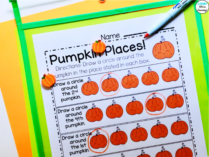 Using Ordinal Number Lesson Printables with Students