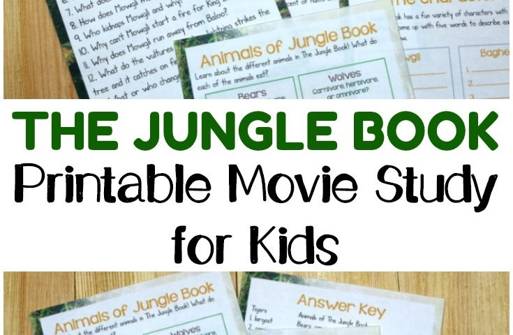 The Jungle Book Movie Study Printable for Kids