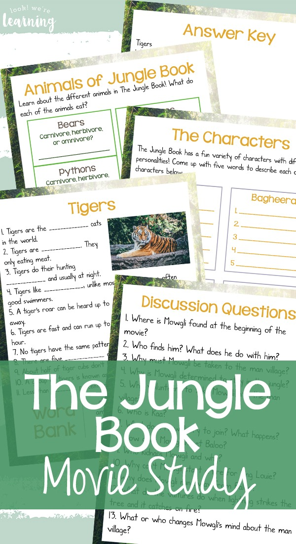 Printable Movie Study Activity for The Jungle Book