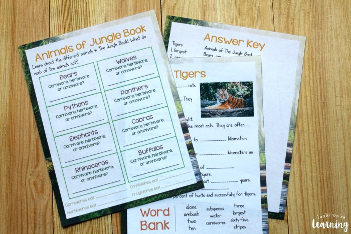 Printable Movie Study for The Jungle Book