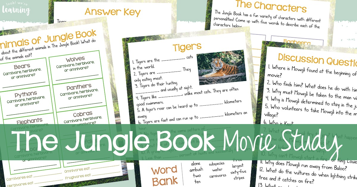 The Jungle Book Movie Study Discussion for Kids
