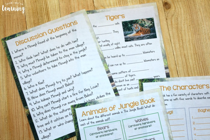 The Jungle Book Movie Study for Kids