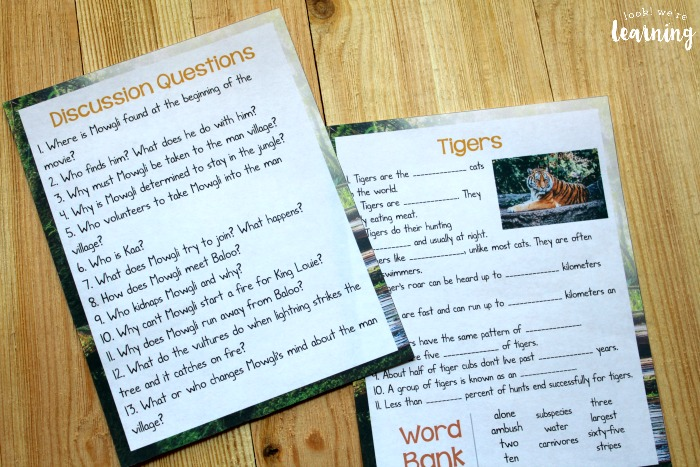 The Jungle Book Printable Movie Study