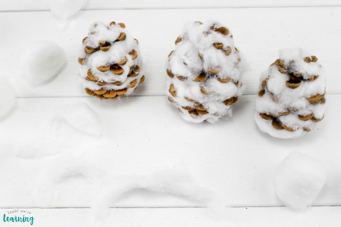 Simple Pinecone Snowman Craft for Kids