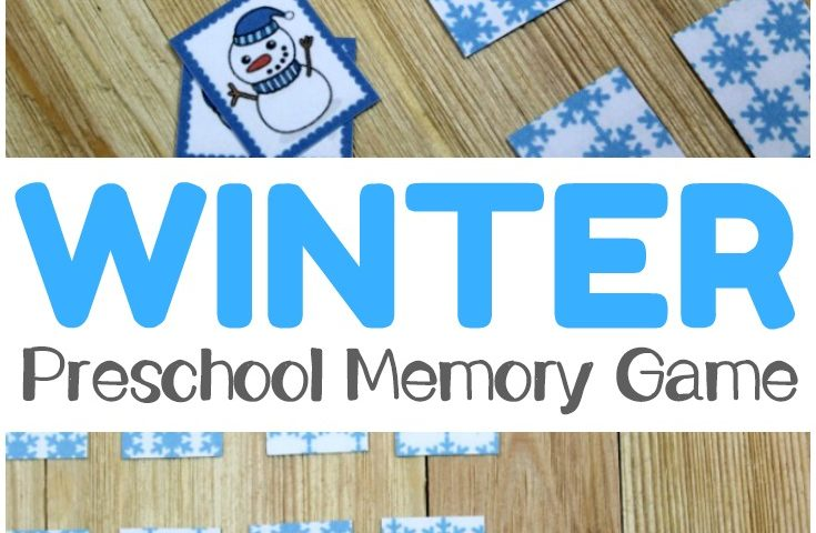 Mitten Memory: Winter Preschool Memory Game