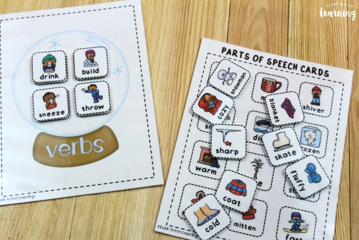 Parts of Speech Sorting Activity for Kids