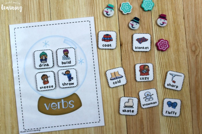 Printable Parts of Speech Sorting Activity