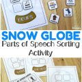 Teach children how to identify basic nouns, verbs, and adjectives with this winter-themed parts of speech sorting activity! Perfect for ELA over the winter!